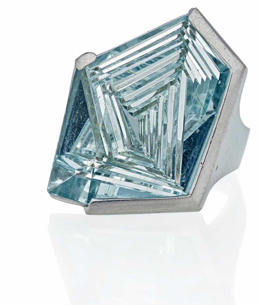 Aquamarin-Ring.  - photo 1