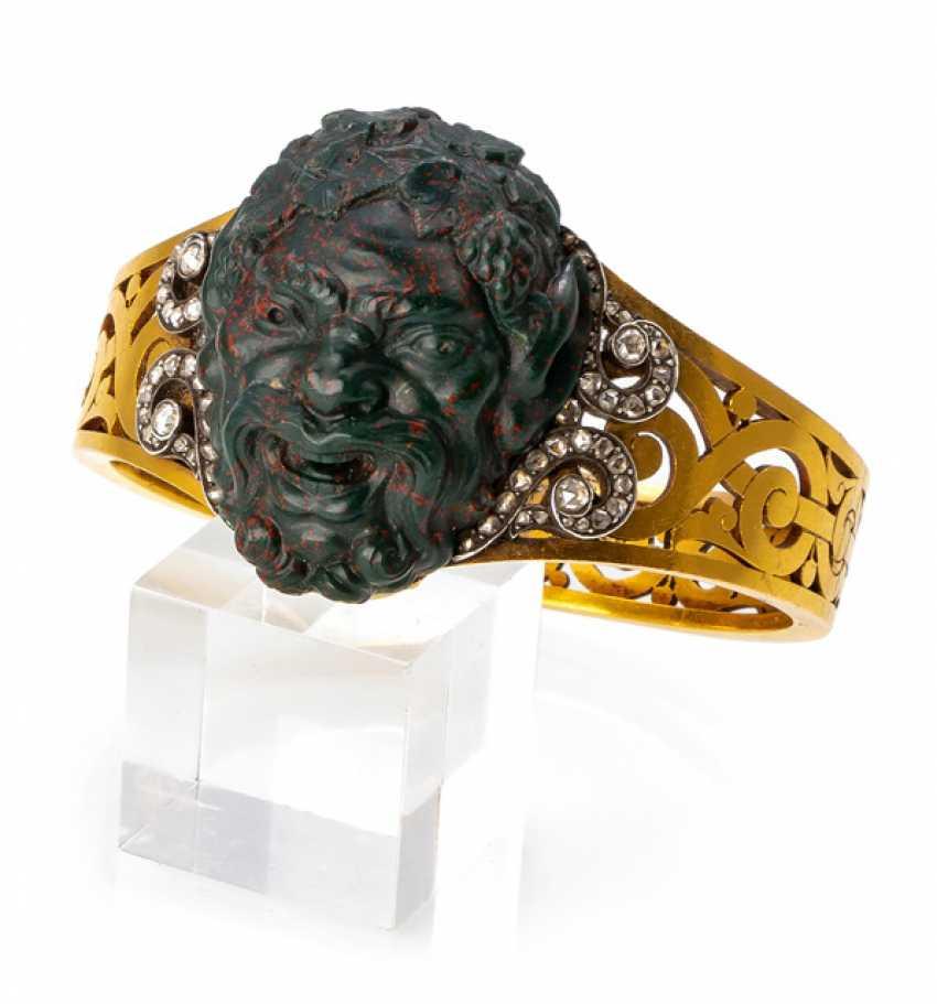 Magnificent bangle with cut Jasper-Gemme - photo 1