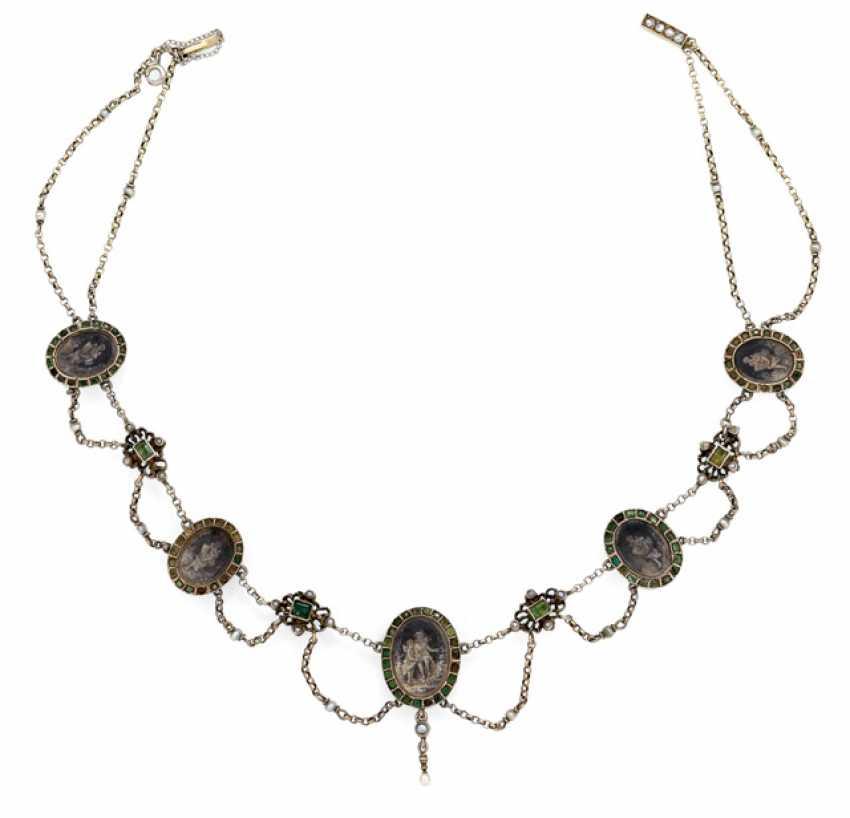 Biedermeier necklace with Miniatures - photo 1