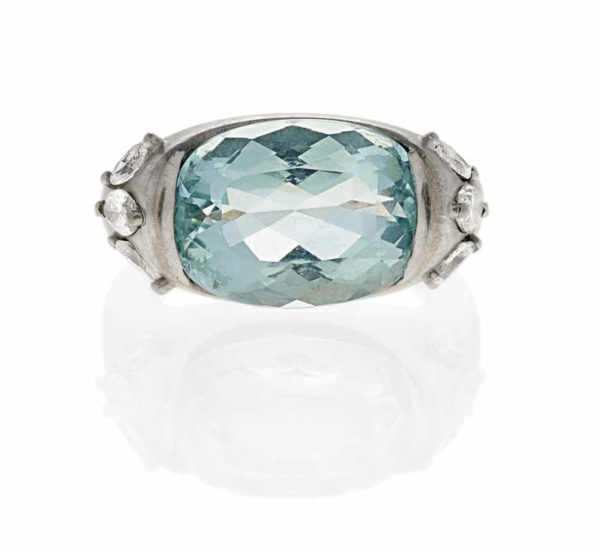 Aqumarin Diamond Ring. Marx, Falko-1941 Cologne 2012 Cologne, Germany. - photo 1