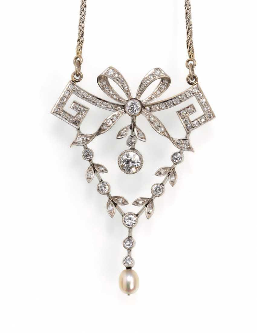 Art Nouveau Diamond Necklace - photo 1