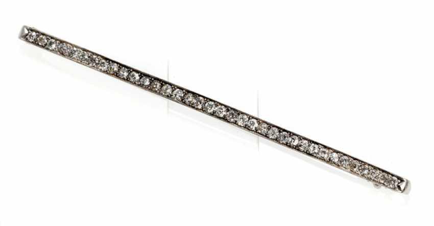 Diamond Bar Brooch - photo 1