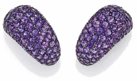 Amethyst-Ohrsteck Clips.  - photo 1