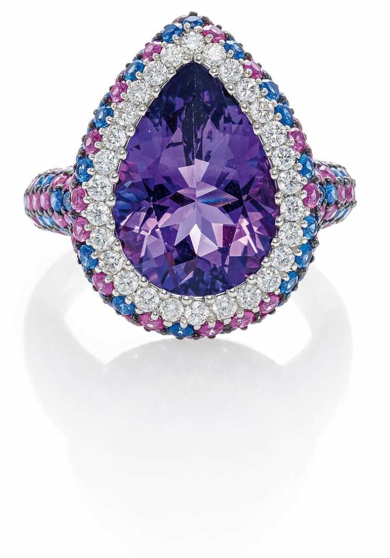 Amethyst-Diamant-Ring.  - photo 1