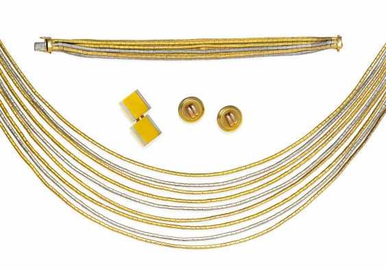 Gold-Set: Collier und Armband.  - photo 1