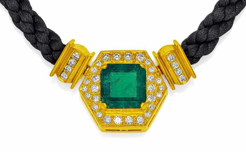 Smaragd-Diamant-Collier.  - photo 1