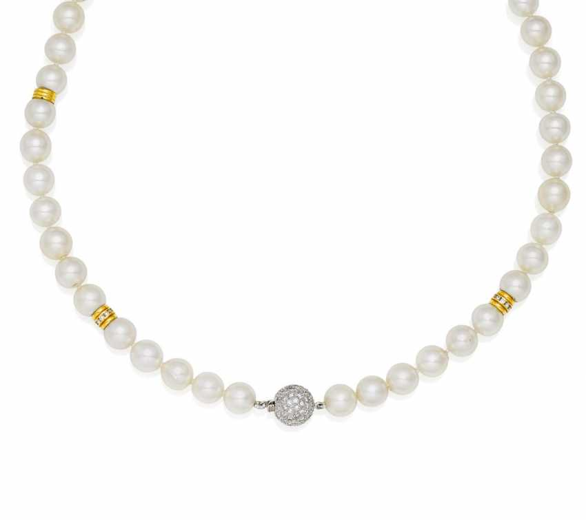 Akoya Cultured Pearl Necklace.  - photo 1