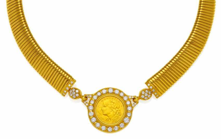 Coin Diamond Necklace.  - photo 1