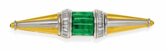 Emerald And Diamond Brooch. Weyersberg - photo 1