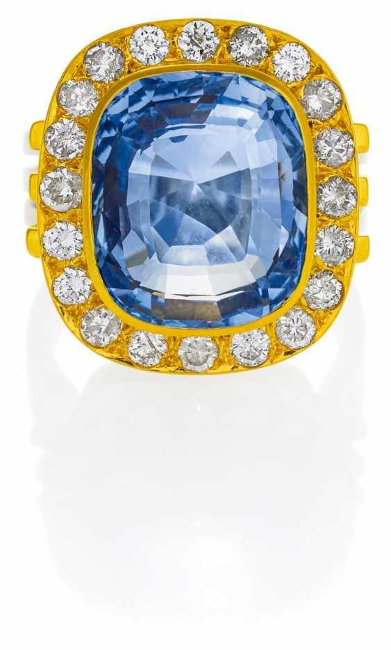 Saphir-Diamant-Ring.  - photo 1