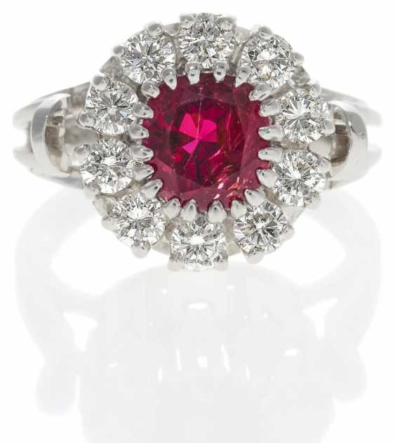 Rubin-Diamant-Ring.  - photo 1