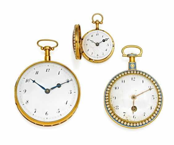 GROUP OF THREE POCKET WATCHES. - photo 1
