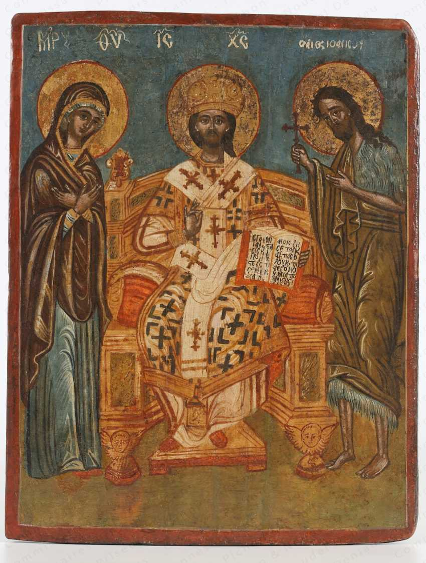 HRIST IN MAJESTY', SURROUNDED BY THE VIRGIN AND SAINT JOHN THE BAPTIST - photo 1