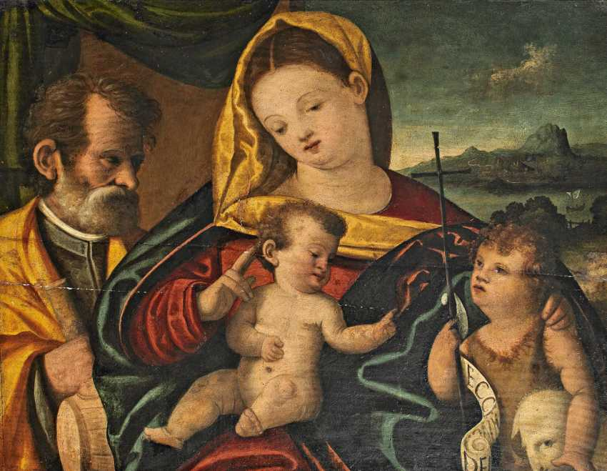 Italian Champion. The Holy family with Saint John in front of landscape background. - photo 1