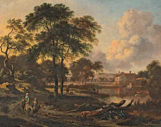 Wynants, Jan. Dutch landscape with a lake and a traveller on a path. - photo 1