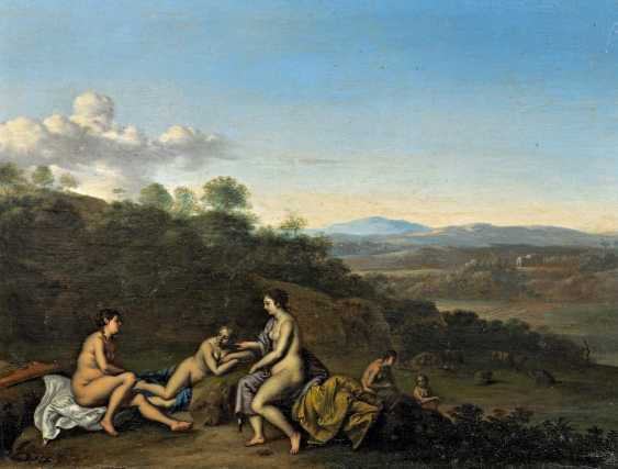 Vertangen, Daniel. Arcadian landscape with bathing nymphs. - photo 1