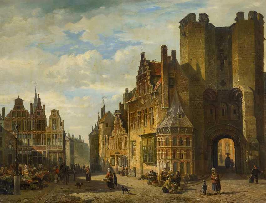 Boulanger, François Jean Louis. Stadtansicht in Gent. - photo 1