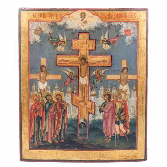 A rare icon of the Crucifixion