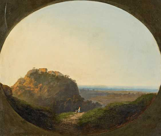 The French Master. Southern French landscape with walkers. - photo 1