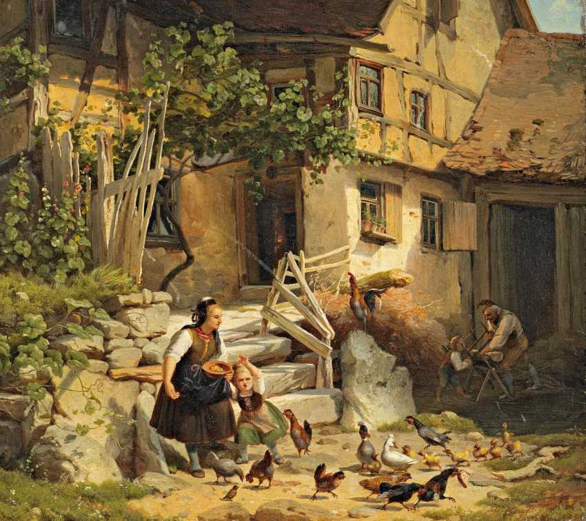 Heerdt, Johann Christian. Hessian peasants in front of the HOMESTEAD. - photo 1