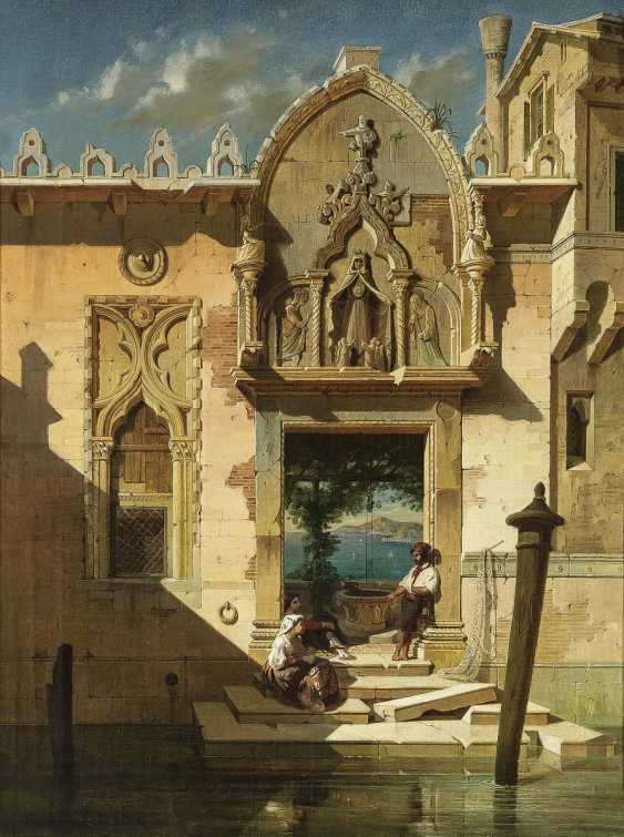 Hahn, Gustav Adolf. The water-side Portal of a Venetian Palace in Campo de l'Abazia. - photo 1