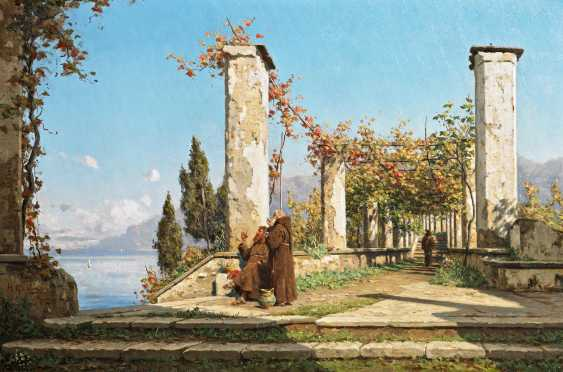 Harrer, Hugo Paul. Pergola in the monastery garden at Amalfi. - photo 1