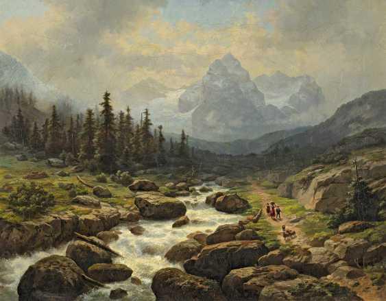 Hausmann, Gustav. Views of the Wetterhorn in Switzerland. - photo 1