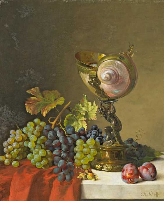 Schäffer, Adalbert Bela. Still the Cup and the wine of life with Nautilus grapes. - photo 1