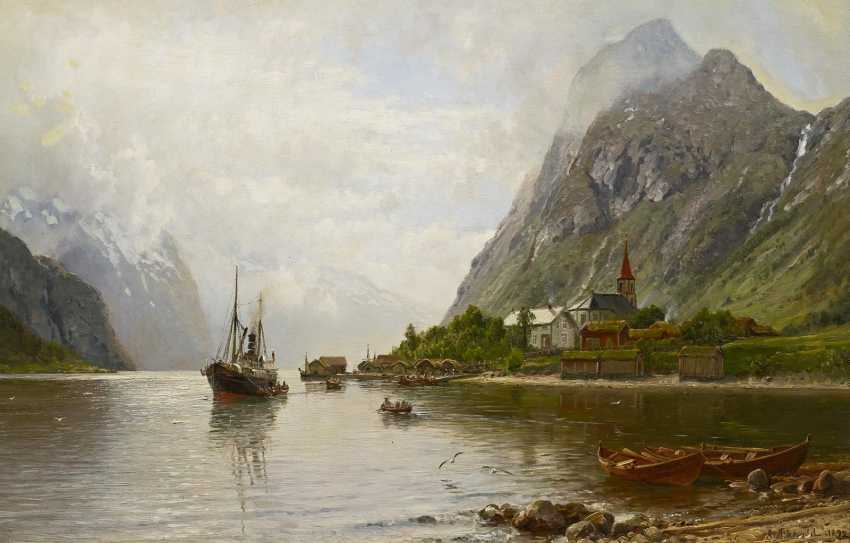 Askevold, Anders Monsen. Krichdorf in the Fjord. - photo 1