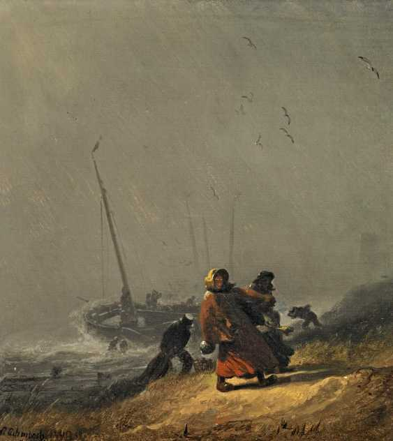 Achenbach, Andreas. Landing in stormy weather. - photo 1
