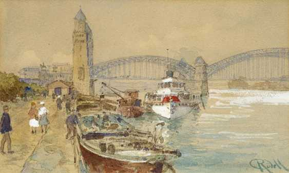 Rüdell, Carl. Cologne. The port of the old Hohenzollern bridge. - photo 1