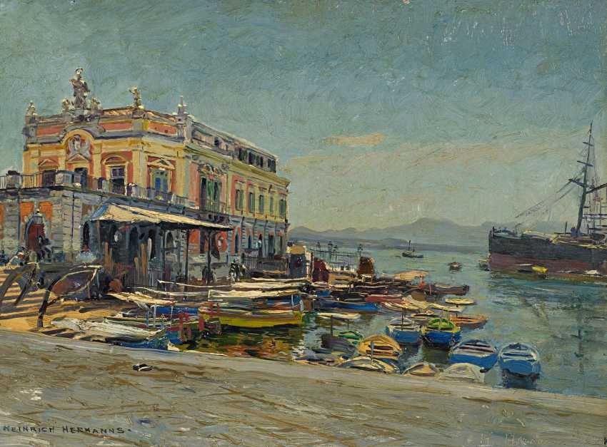 Hermanns, Heinrich. In the port of Naples. - photo 1