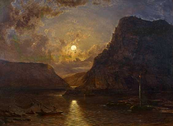 Sachs, Michael. Fishing at night fishing in front of the Loreley rock. - photo 1