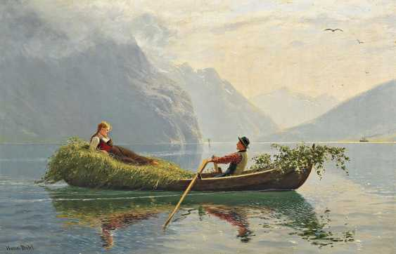 Dahl, Hans. Young Couple in summer the Fjord. - photo 1