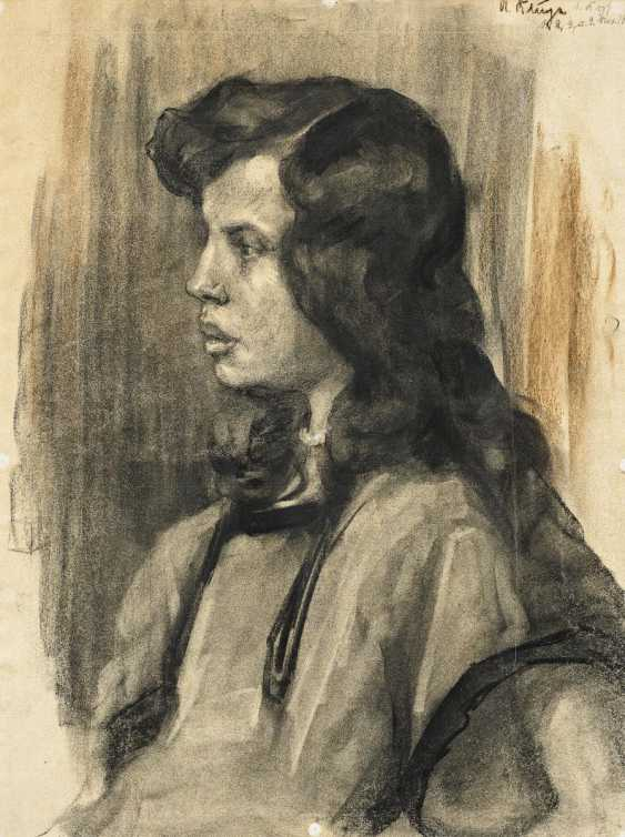 Klinger, Max. Portrait of a woman. - photo 1