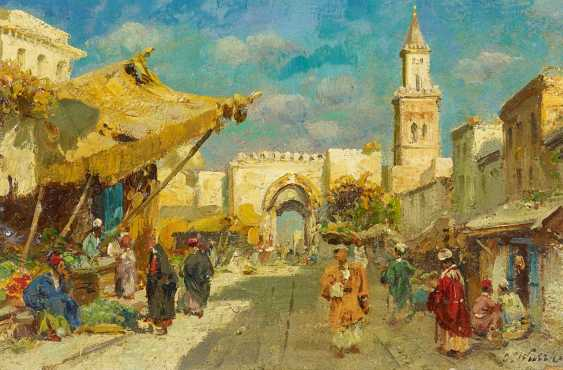 Wuttke, Carl. Bazaar in the old town of Tunis. - photo 1