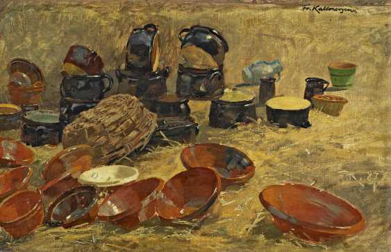 Kallmorgen, Friedrich. Still life with pottery. - photo 1