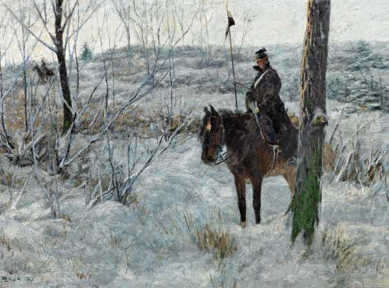 Baur, Albert, d. J.. Preussischer reporting tab in a snow-covered landscape. - photo 1