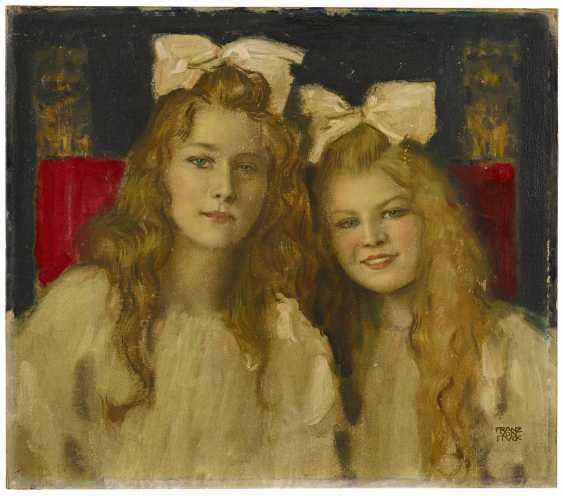 Stuck, Franz von. Portrait of two young ladies. - photo 1
