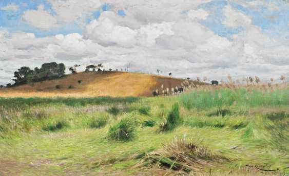 Kuhnert, Friedrich Wilhelm. Landscape in Tanzania on the river Ruhudji. - photo 1