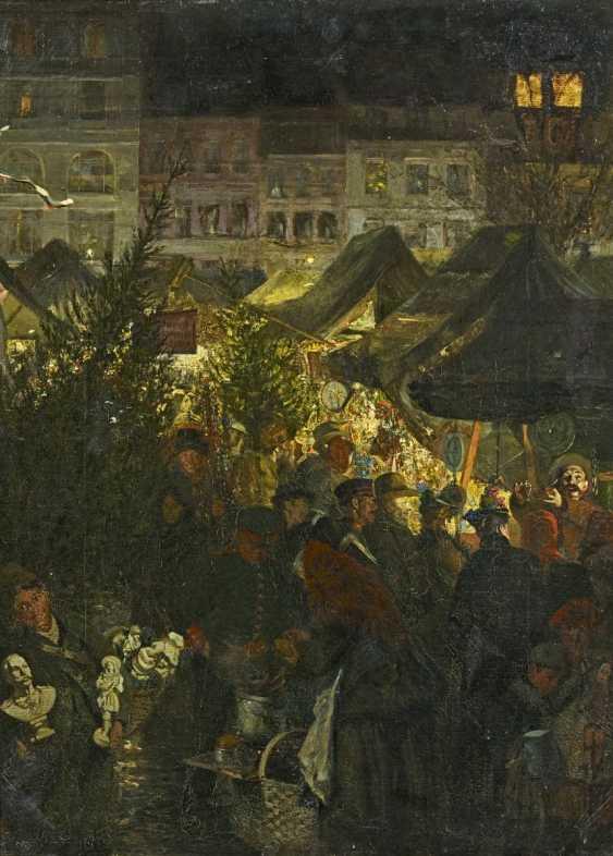 Schöbel, Georg. Evening mood at the Berlin Christmas market. - photo 1