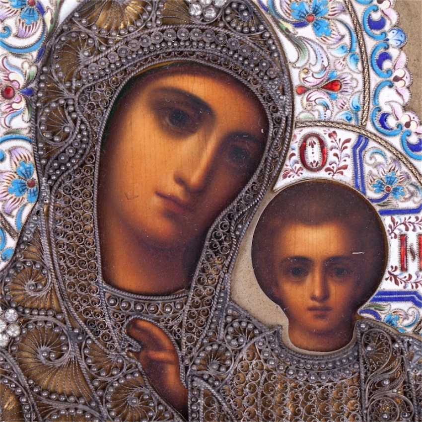 Wedding pair icons of the Savior and sustainer of our lady of Kazan