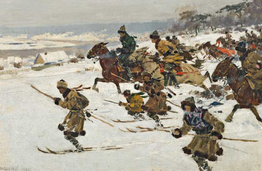Ungewitter, Hugo. On skis and horses-attacking hunters. - photo 1