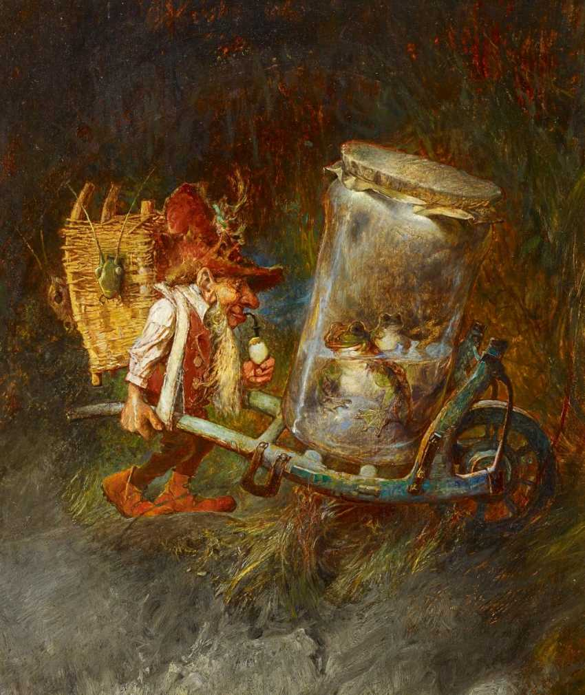 Schlitt, Heinrich. Gnome with frogs and locusts. - photo 1