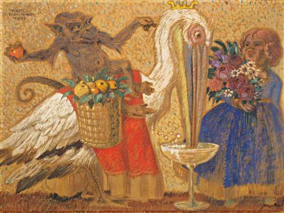 Purrmann, Karl. Monkey and Pelican. - photo 1