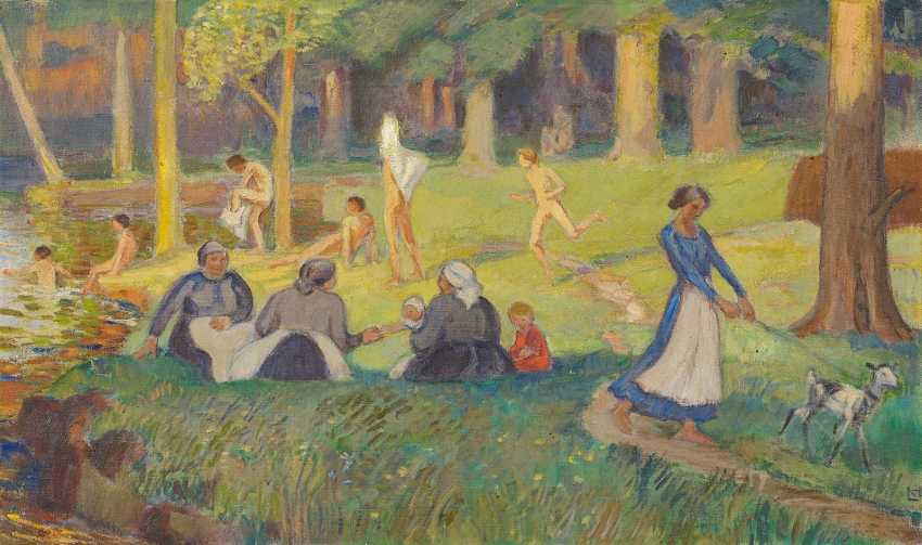 Hofmann, Ludwig von. Summer night on the river / theme from Fontainebleau. - photo 1