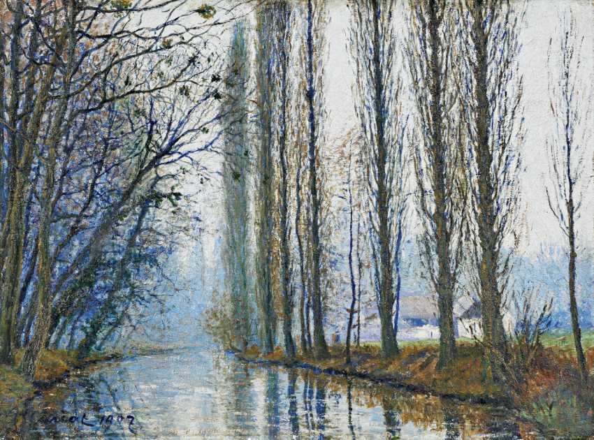 Cariot, Gustave. Spring day on a French channel. - photo 1