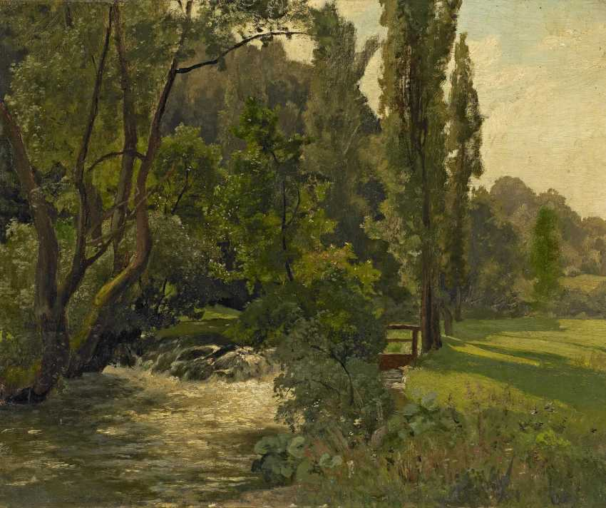 Preller d. Ä., Friedrich. Landscape with a Creek. - photo 1