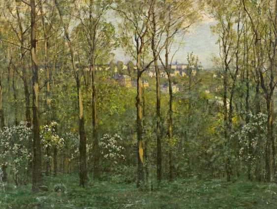 Deiters, Hans. The view through the spring forest to a town. - photo 1