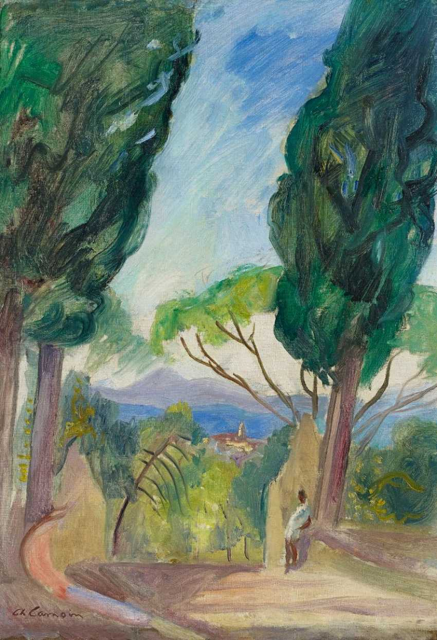 Camoin, Charles. Saint-Tropez, the cypresses at Saint-Anne. - photo 1